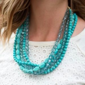 Jewelry - Blue turquoise statement necklace